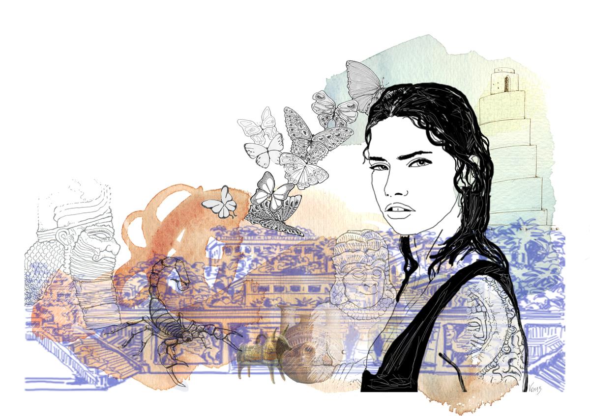 babilonia-etniche-giardini-pensili-illustration-fabio-delvo