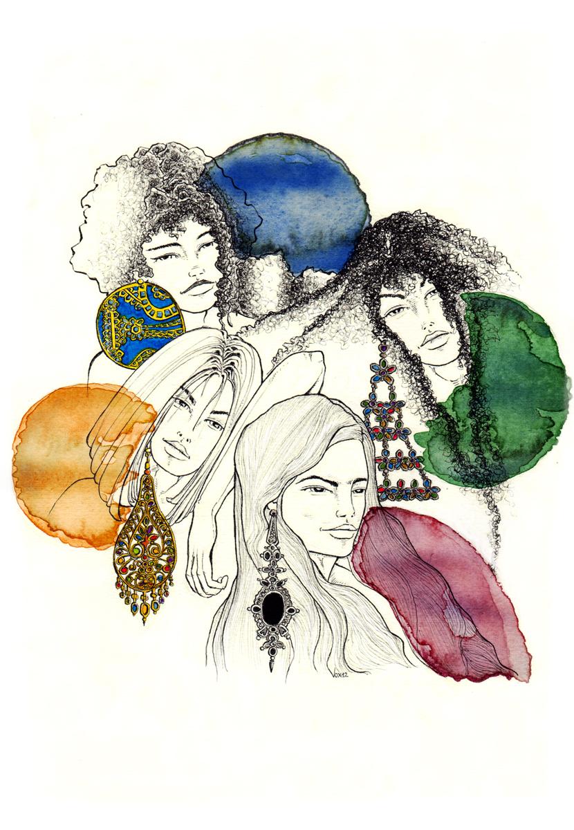 cover-gioielli-capelli-raccontano-donne-orecchini-illustration-fabio-delvo