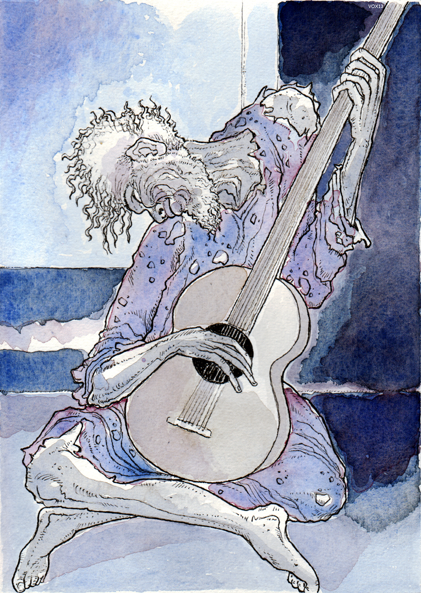 cover-vecchio-chitarrista-picasso-illustration-fabio-delvo