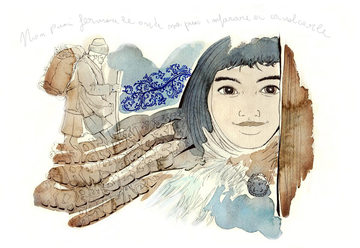 onde-fermare-cavalcare-cammino-pensieri-oriente-consapevolezza-mentale-mindufullness-illustration-fabio-delvo