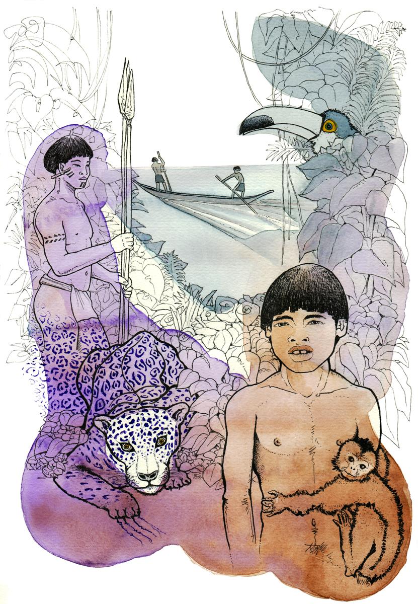 popolazioni-continenti-america-amazzonia-indios-giungla-illustration-fabio-delvo
