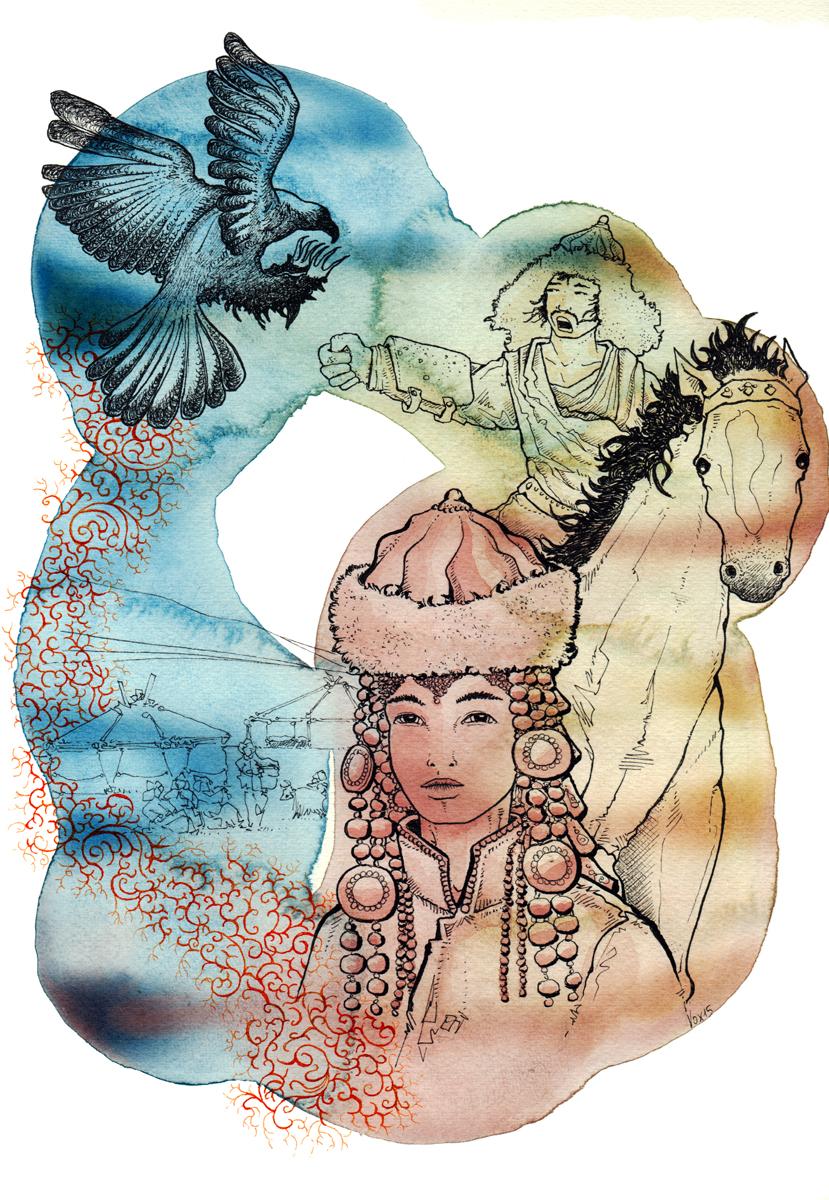 popolazioni-continenti-asia-mongolia-mongoli-illustration-fabio-delvo