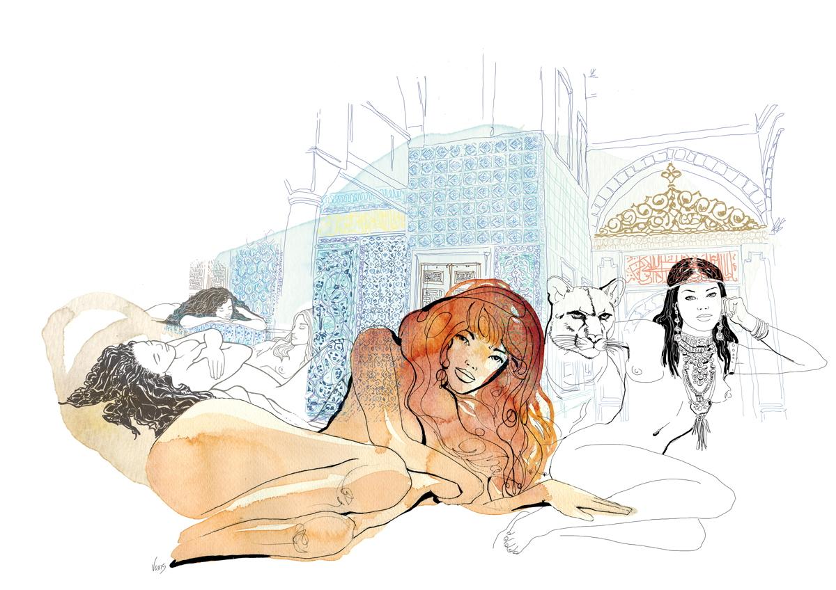 harem-etniche-sultano-illustration-fabio-delvo