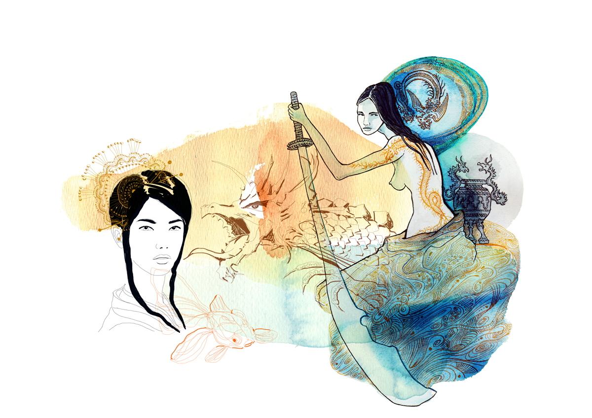 samurai-etniche-giappone-illustration-fabio-delvo