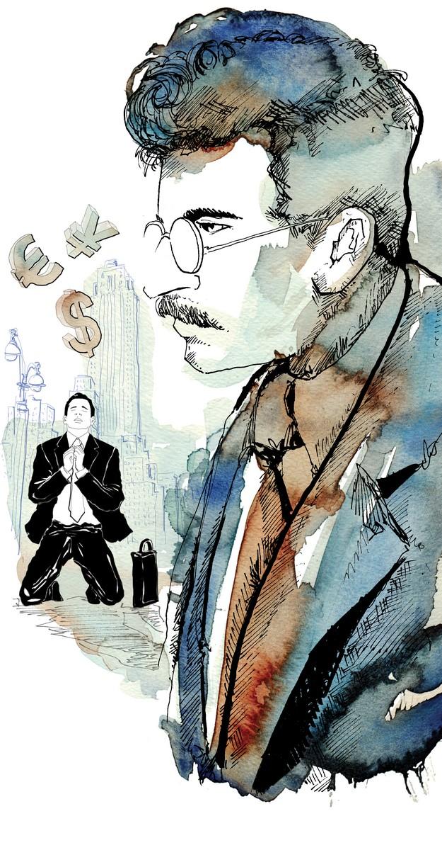 Walter-Benjamin-teologo-economia-La Lettura-Corriere della Sera-24 gennaio 2016-illustration-fabio-delvo