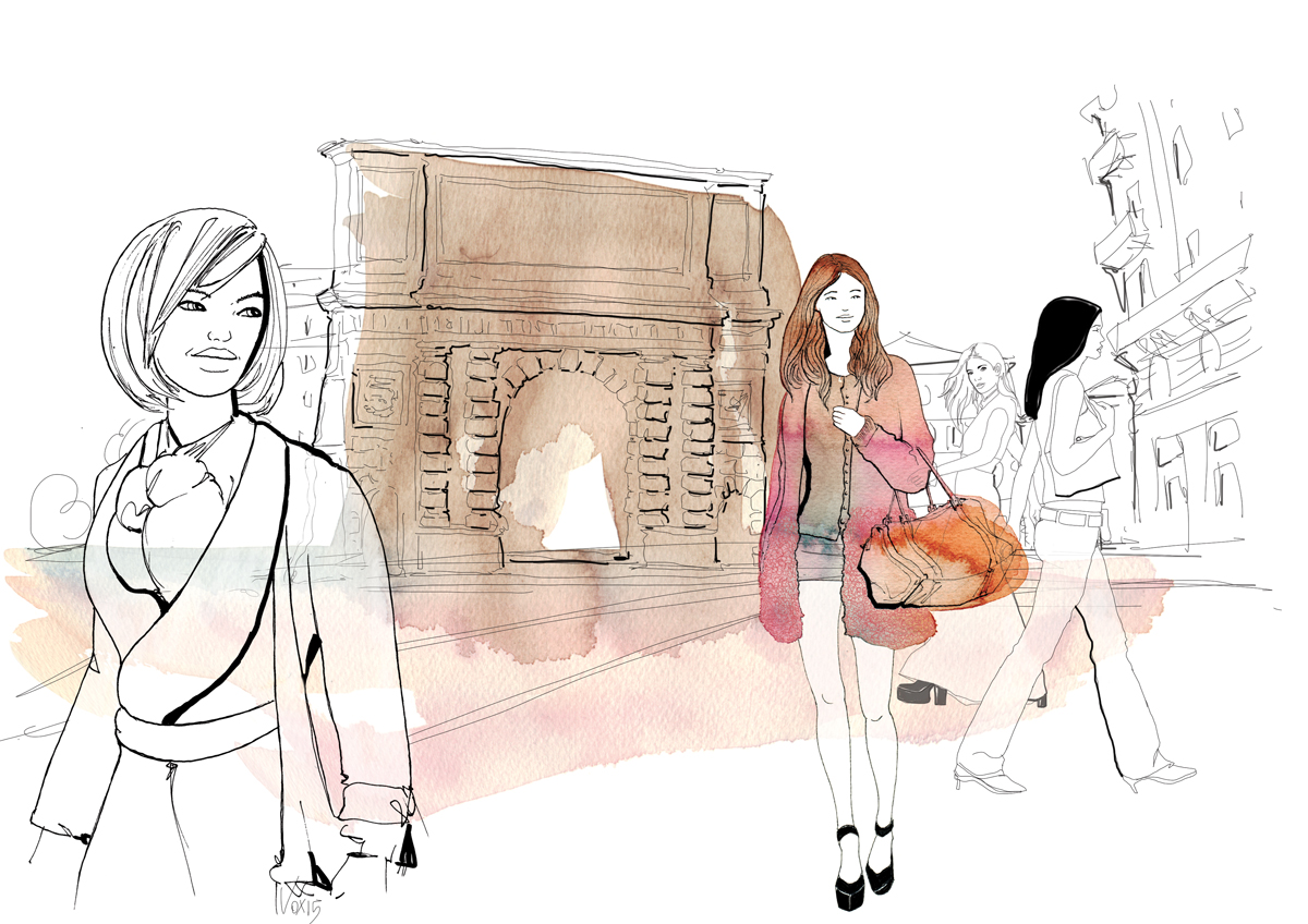 fashion-esterni-moda-porta-romana-milano-illustration-fabio-delvo