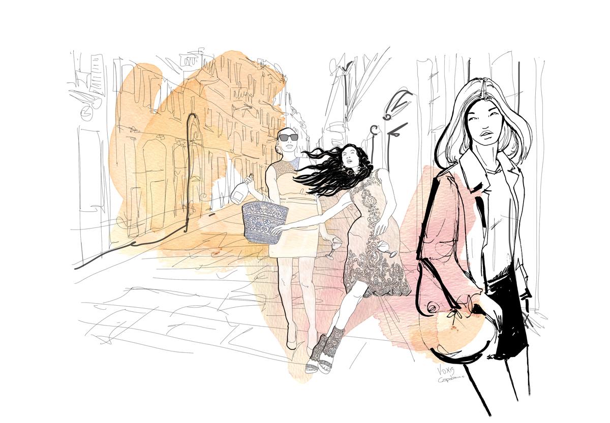 fashion-esterni-moda-via-della-spiga-milano-illustration-fabio-delvo