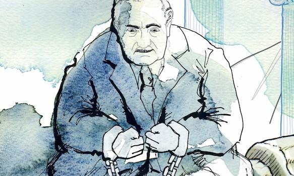 Platone-Heidegger-faccia a faccia-filosofia-nazismo-La Lettura-Corriere della Sera-27 marzo 2016-illustration-fabio-delvo