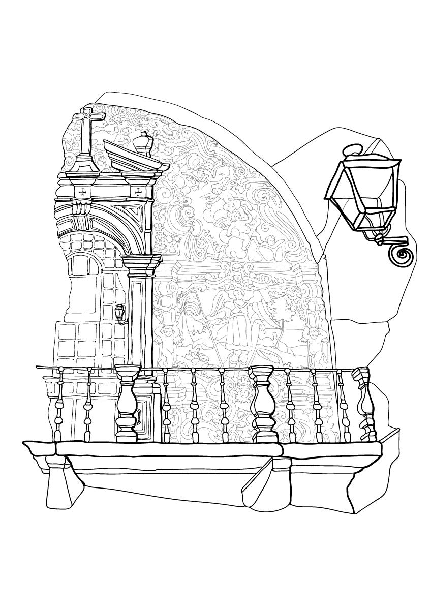 coloring books-città del colore-colore-azulejos-lisboa-Lisbona-Portogallo-illustration-fabio-delvo