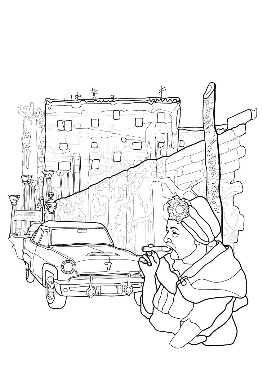 coloring books-città del colore-colore-callejon de hamel-havana-cuba-illustration-fabio-delvo