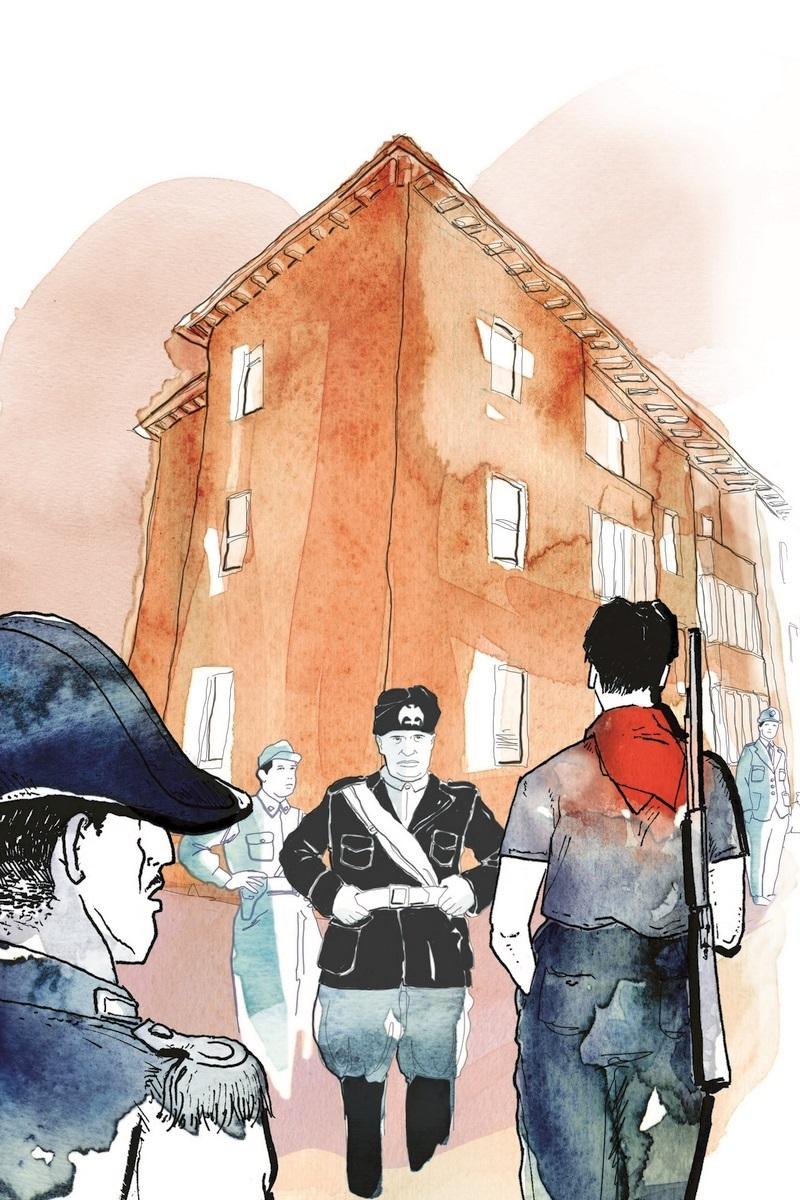 cover-la casa del duce-mussolini-gorizia-1938-1945-roberto covaz-LEG Edizioni-LEG-Ossola-eStoria-illustrations-fabio delvo-delvox