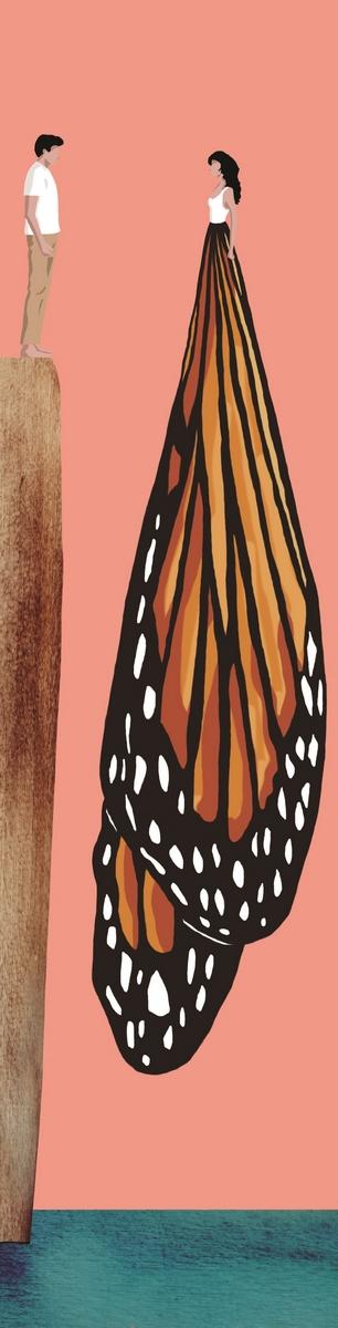 volo-farfalla-confine-monarca-Jane Urquhart-Sanctuary Lane-La Lettura-Corriere della Sera-15 maggio 2016-illustration-fabio delvo