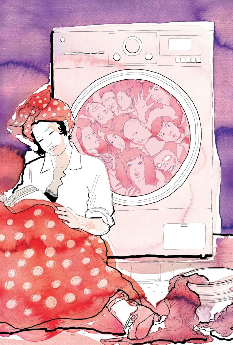 Fiabe per adulti-Fiabe-Adulti-acqua-lavandaia-lavatrice-lavare-bruno tognolini-panni sporchi-La Lettura-Corriere della Sera-26 giugno 2016-illustration-fabio delvo-delvox