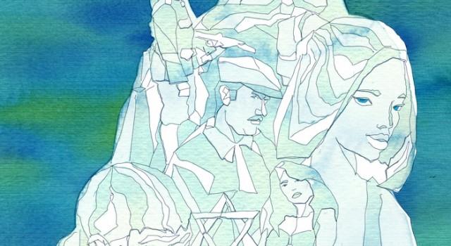 racconti orali-fiabe-storie-gatto-olocausto-sculture ghiaccio-guerra-israele-mafiosi-prostitute-La Lettura-Corriere della Sera-10 luglio 2016-illustration-fabio delvo