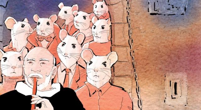 populismo-lotta di classe-medio evo-vicente ferrer-ildefonso falcones-pifferaio-La Lettura-Corriere della Sera-16 ottobre 2016-illustration-delvox-fabio delvo-slide