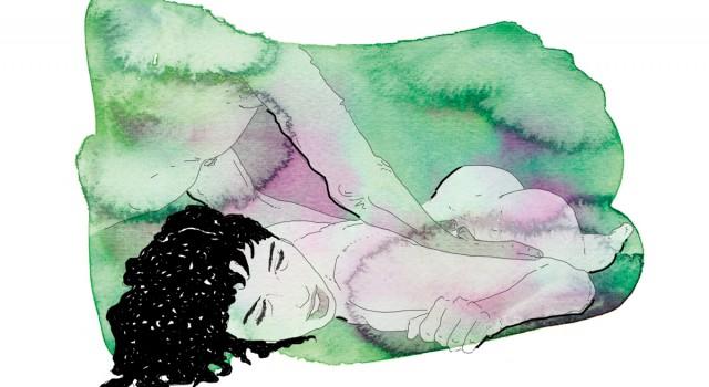 26-correre-running-training-allenamento-runner-sesso-adulti-illustrazione-illustrations-fabio-delvo-delvox-acquerelli-watercolors-massaggio schiena