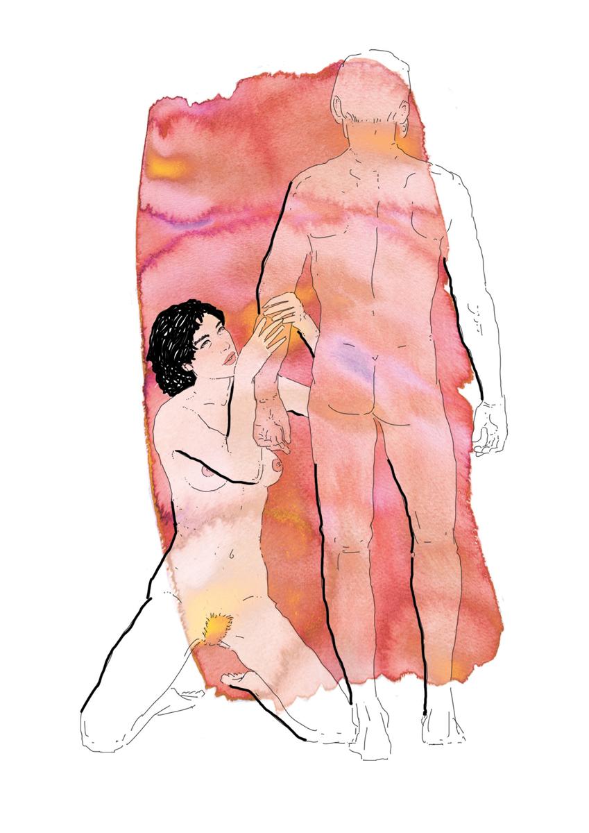 27-correre-running-training-allenamento-runner-sesso-adulti-illustrazione-illustrations-fabio-delvo-delvox-acquerelli-watercolors-massaggio braccia