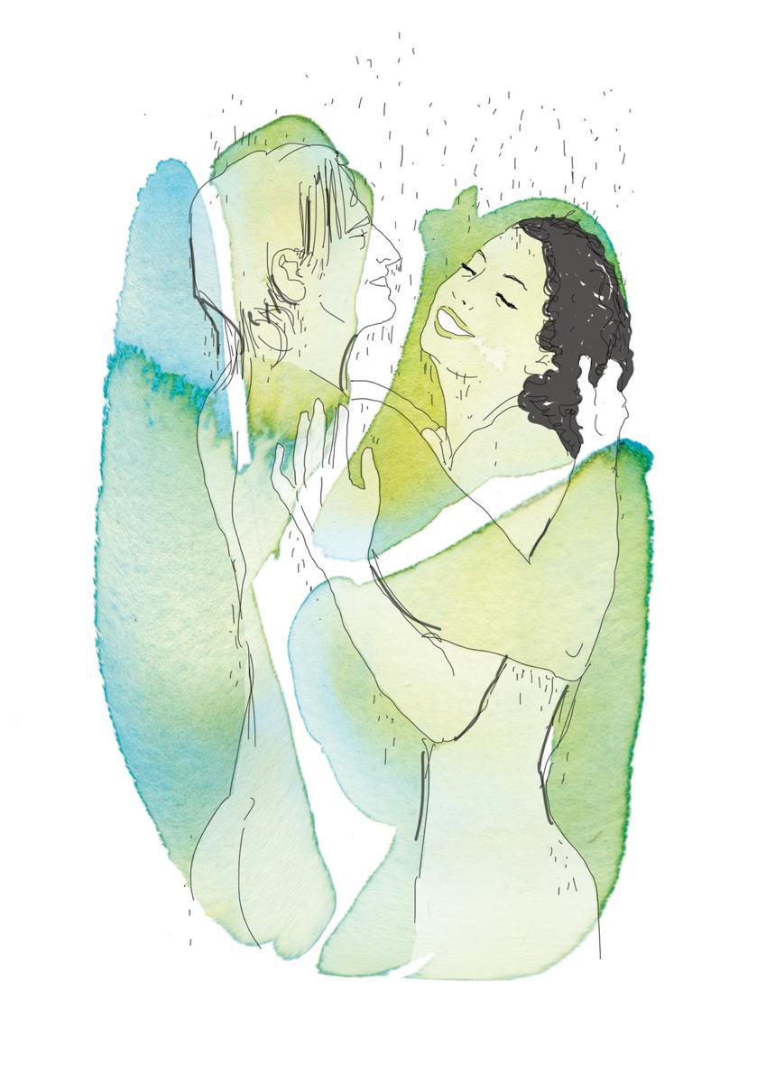 29-correre-running-training-allenamento-runner-sesso-adulti-illustrazione-illustrations-fabio-delvo-delvox-acquerelli-watercolors-sotto la doccia