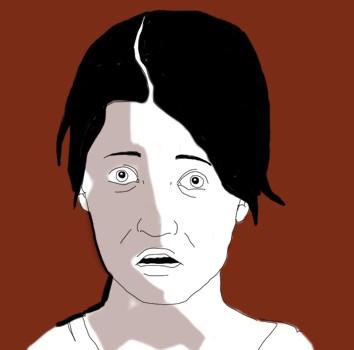 afraid-paura-icone-icons-applicazione-ospedale-donne-women-sentimenti-umori-sensazioni-salute-fabio delvo-illustrations-delvox-digital-donne