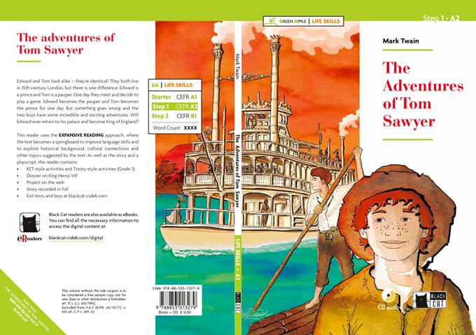the-adventures-of-tom-sawyer-cover-book-deagostini-cideb-black-cat-tom-sawyer-illustrations-acquerelli-illustrazioni-watercolors-fabio-delvo-delvox
