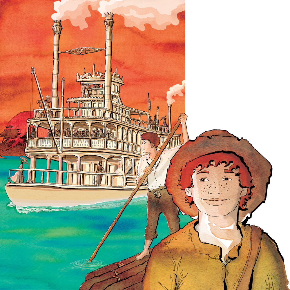 the-adventures-of-tom-sawyer-cover-book-deagostini-tom-sawyer-illustrations-acquerelli-illustrazioni-watercolors-fabio-delvo-delvox