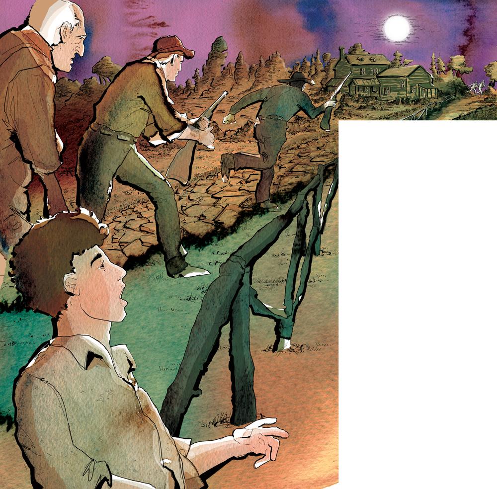 the-adventures-of-tom-sawyer-i-welsh-allinseguimento-dellindiano-deagostini-tom-sawyer-illustrations-acquerelli-illustrazioni-watercolors-fabio-delvo-delvox