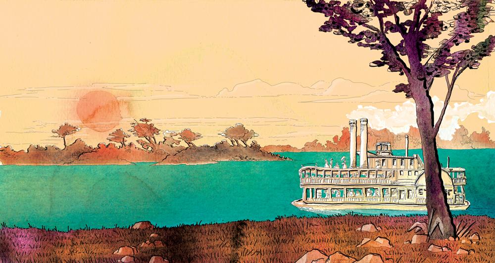 the-adventures-of-tom-sawyer-jakson-island-deagostini-tom-sawyer-illustrations-acquerelli-illustrazioni-watercolors-fabio-delvo-delvox