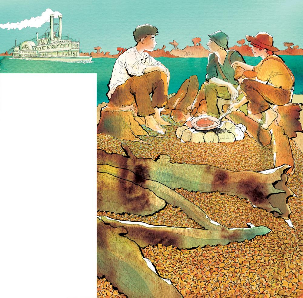 the-adventures-of-tom-sawyer-tom-huck-e-joe-deagostini-tom-sawyer-illustrations-acquerelli-illustrazioni-watercolors-fabio-delvo-delvox