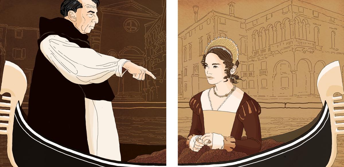 isabella-della-frattina-processo-venezia-eretica-inquisizione-eresia-accusa-nobildonna-illustrazione-watercolors-illustrations-acquerello-corriere-della-sera-la-lettura-fabio-delvo-delvox