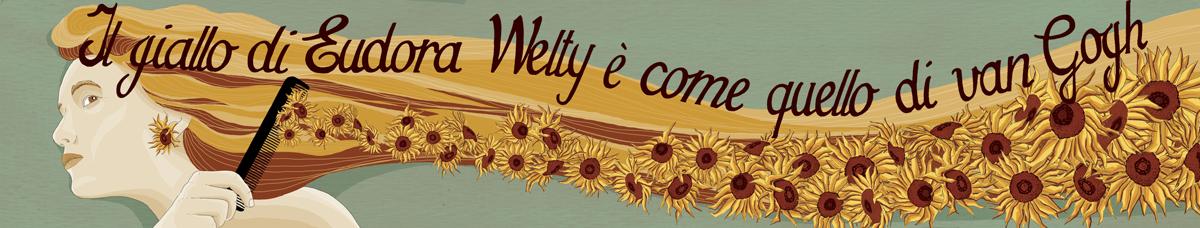 giallo-eudora-welty-van-gogh-girasoli-capelli-parrucchiera-libri-narrativa-illustrazione-watercolors-illustrations-acquerello-corriere-della-sera-la-lettura-fabio-delvo-delvox