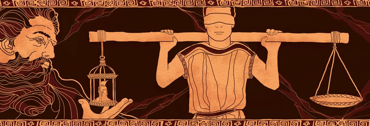 prometeo-dono-fuoco-uomo-giustizia-potenza-mitologia-grecia-mario-vegetti-bilancia-illustrazione-illustrations-corriere-della-sera-la-lettura-fabio-delvo-delvox