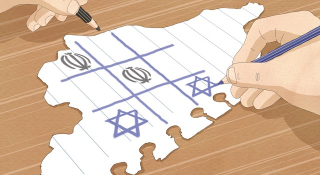 siria-guerra-attrito-israele-iran-politica-la-stampa-newspaper-editoriale-fabio-delvo-delvox-illustrations-illustrazioni-publishing