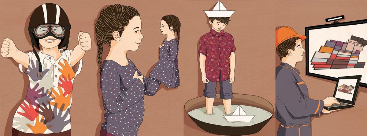realta-aumentata-augmented-reality-medicina-terapia-bambini-salute-autismo-caschetto-museo-industria-tecnologia-illustrazione-illustrations-corriere-della-sera-la-lettura-fabio-delvo-delvox