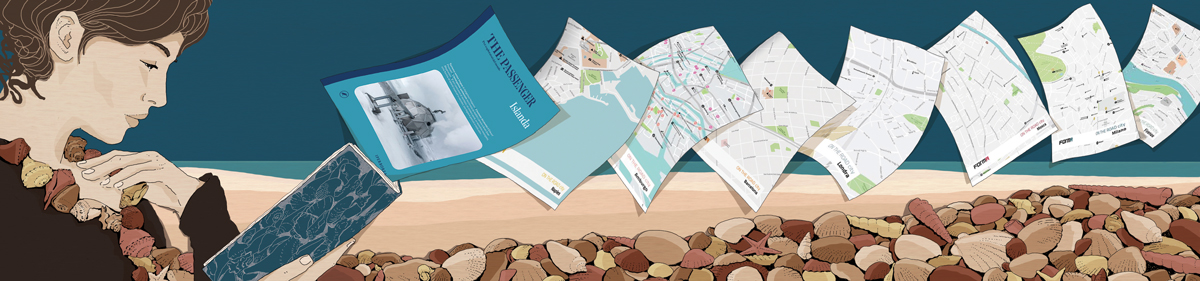 guide-turistiche-letteratura-cultura-viaggi-libri-percorsi-mappe-books-illustrazione-illustrations-corriere-della-sera-la-lettura-fabio-delvo-delvox