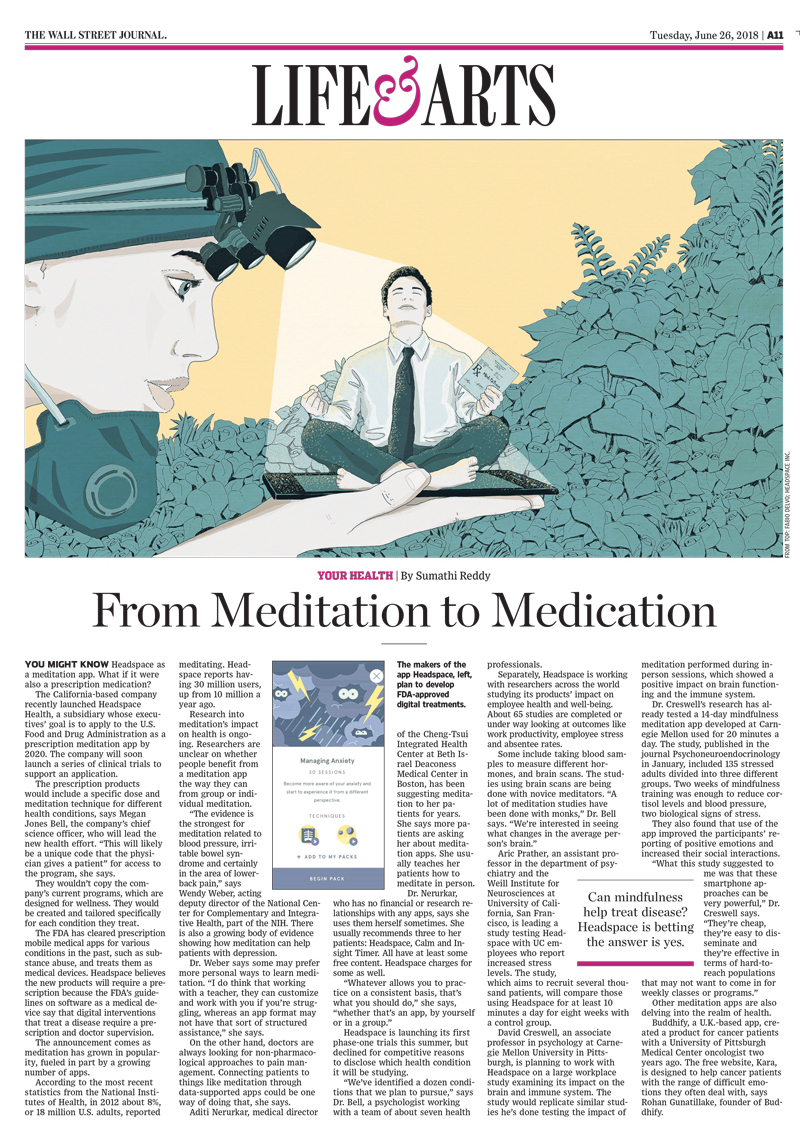 medication-meditation-medecine-mindfullness-prescription-illustration-wall-street-journal-lifearts-publishing-newspaper-health-fabio-delvo-delvox-conceptual-illustrations-page