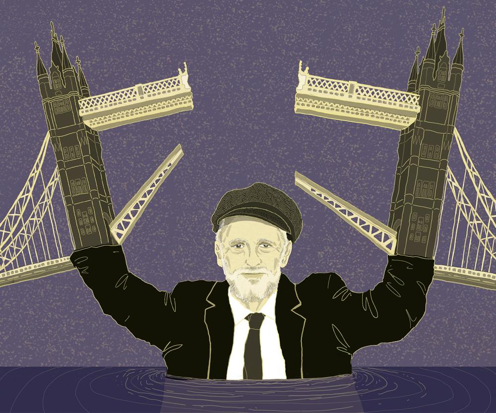 corbyn-antisemita-illiberale-laburista-gran-bretagna-politica-bhl-bernard-henry-levy-politica-la-stampa-newspaper-editoriale-fabio-delvo-delvox-illustrations-illustrazioni-publishing