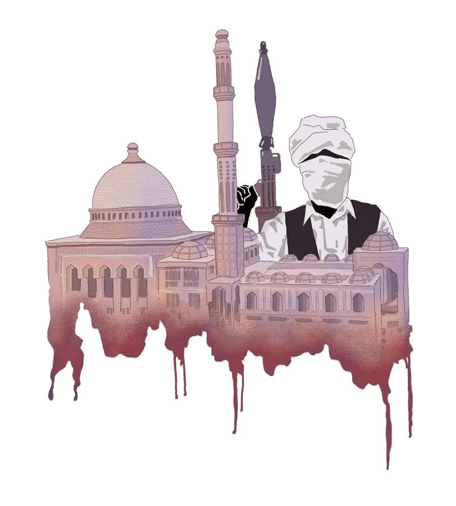 terrorismo-islam-jihad-kabul-afghanistan-politica-la-stampa-newspaper-editoriale-fabio-delvo-delvox-illustrations-illustrazioni-publishing