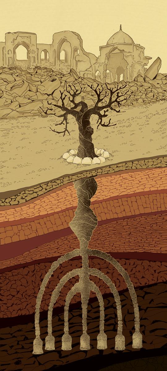 mosul-isis-sinagoga-siria-guerra-califfato-bhl-bernard-henry-levy-politica-la-stampa-newspaper-editoriale-fabio-delvo-delvox-illustrations-illustrazioni-publishing