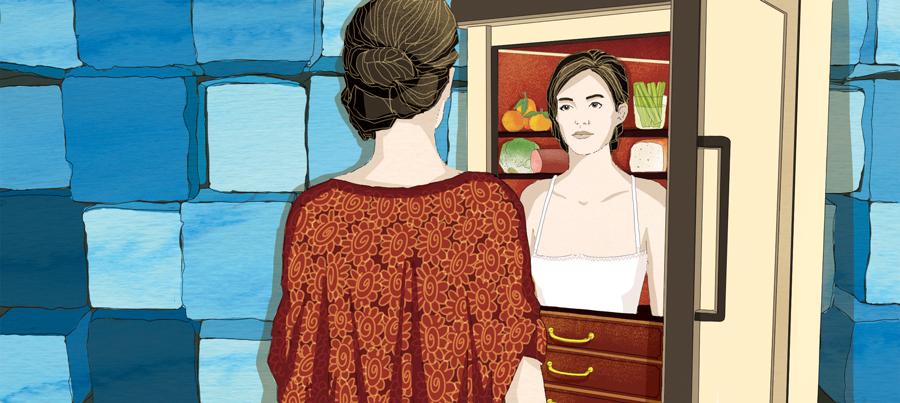 frigorifero-elettrodomestico-intimo-riflesso-intimita-romanzo-libri-books-illustrazione-illustrations-corriere-della-sera-la-lettura-fabio-delvo-delvox