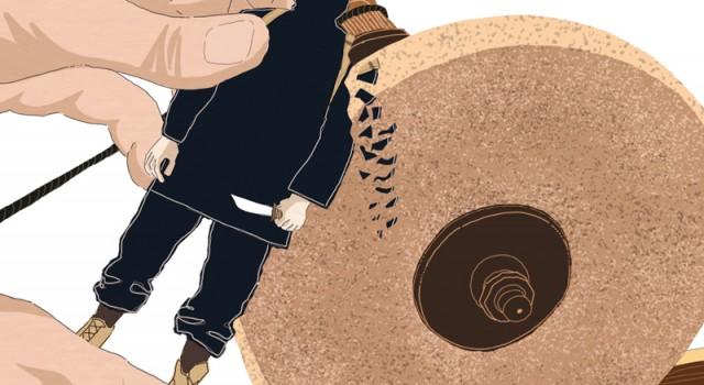 isis-gangster-jihadisti-europa-sfida-terrorismo-politica-la-stampa-newspaper-editoriale-fabio-delvo-delvox-illustrations-illustrazioni-publishing