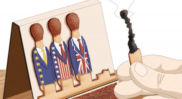 populismo-democrazia-sfida-brexit-usa-trump-europa-occidente-politica-la-stampa-newspaper-editoriale-fabio-delvo-delvox-illustrations-illustrazioni-publishing