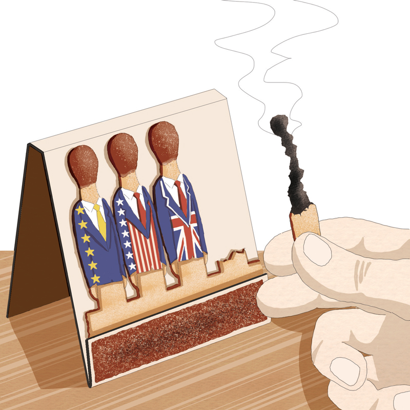 populismo-democrazia-sfida-brexit-usa-trump-europa-occidente-politica-la-stampa-newspaper-editoriale-fabio-delvo-delvox-illustrations-illustrazioni-publishing