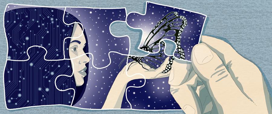 quarto-illuminismo-rivoluzione-astronomia-farfalla-creazione-religione-filosofia-scienza-libri-books-illustrazione-illustrations-corriere-della-sera-la-lettura-fabio-delvo-delvox