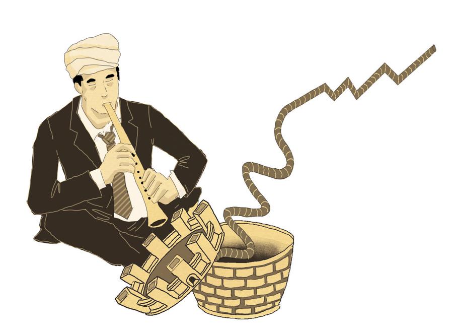 ricetta-export-trend-esportazioni-politica-la-stampa-newspaper-editoriale-fabio-delvo-delvox-illustrations-illustrazioni-publishing