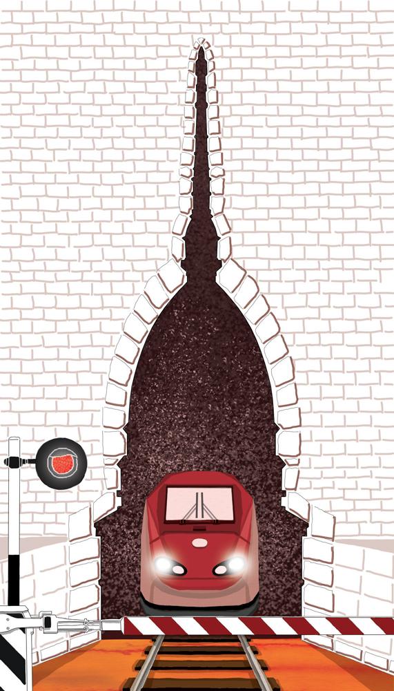 tav-treni-torino-alta-velocita-politica-la-stampa-newspaper-editoriale-fabio-delvo-delvox-illustrations-illustrazioni-publishing