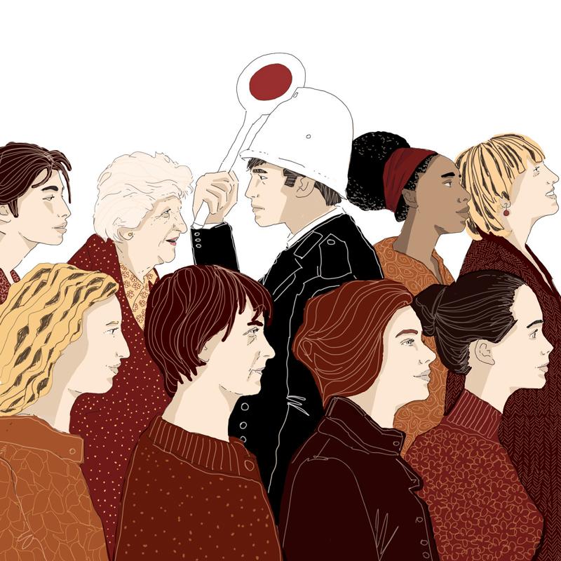 torino-piazza-rivoluzione-manifestazione-politica-la-stampa-newspaper-editoriale-fabio-delvo-delvox-illustrations-illustrazioni-publishing