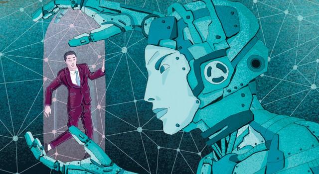 progresso-tecnologia-successo-fallimento-robot-intelligenza-artificiale-autismo-libri-books-illustrazione-illustrations-corriere-della-sera-la-lettura-fabio-delvo-delvox