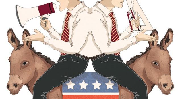 democratici-usa-trump-asino-scelta-populismo-progressista-socialismo-politica-la-stampa-newspaper-editoriale-fabio-delvo-delvox-illustrations-illustrazioni-publishing