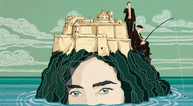 isola-malta-europa-mare-meditteraneo-presente-passato-identita-libri-books-illustrazione-concettuale-conceptual-illustrations-corriere-della-sera-la-lettura-fabio-delvo-delvox