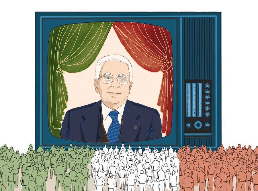 mattarella-discorso-presidenza-repubblica-italia-popolo-politica-la-stampa-newspaper-editoriale-fabio-delvo-delvox-illustrations-illustrazioni-publishing